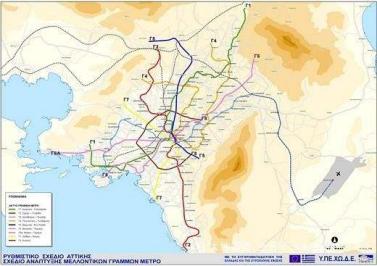 希腊地铁路线图