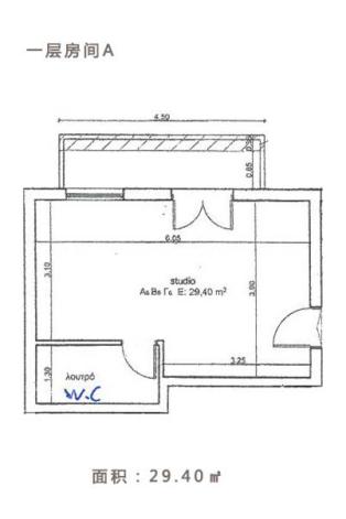 希腊酒店式公寓项目一层房间A