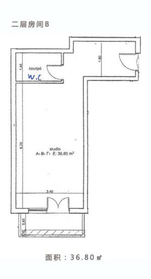 希腊酒店式公寓项目二层房间B