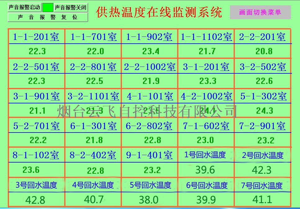 供暖供热温度无线监测系统公司__热力公司供热温度监控系统
