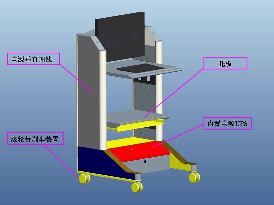 有如下功能: ■  安放显示器,键盘,鼠标; ■  放置kvm切换器; ■  为
