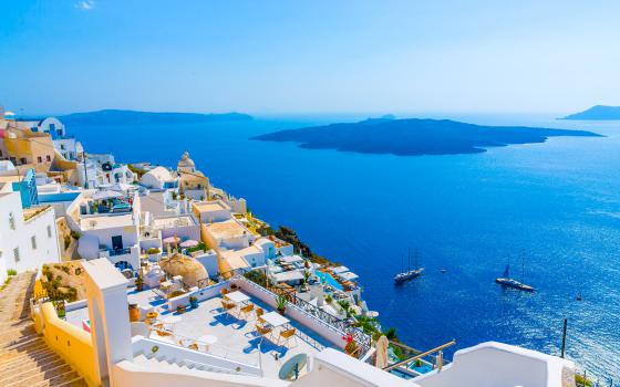 希腊海岸线景色