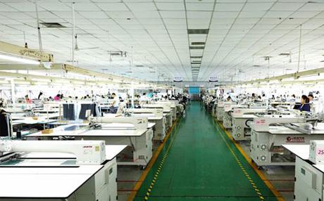 服装生产流水线