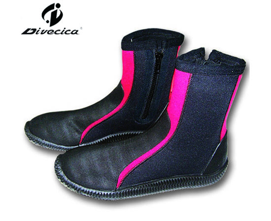 VB-6021 RED&BLACK DIVING BOOTS