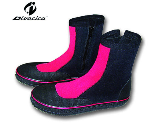 VB-6023 BLACK&RED DIVING BOOTS