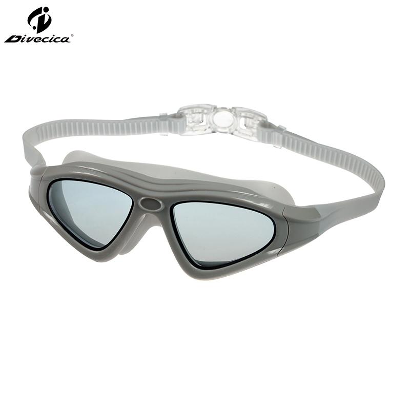 Picture of DIVECICA Swim Goggles, Swimming Goggles No Leaking Anti Fog UV Protection Triathlon Swim Goggles with Free Protection Case for Adult Men Women Youth Kids Child, Multiple Choice-9121S