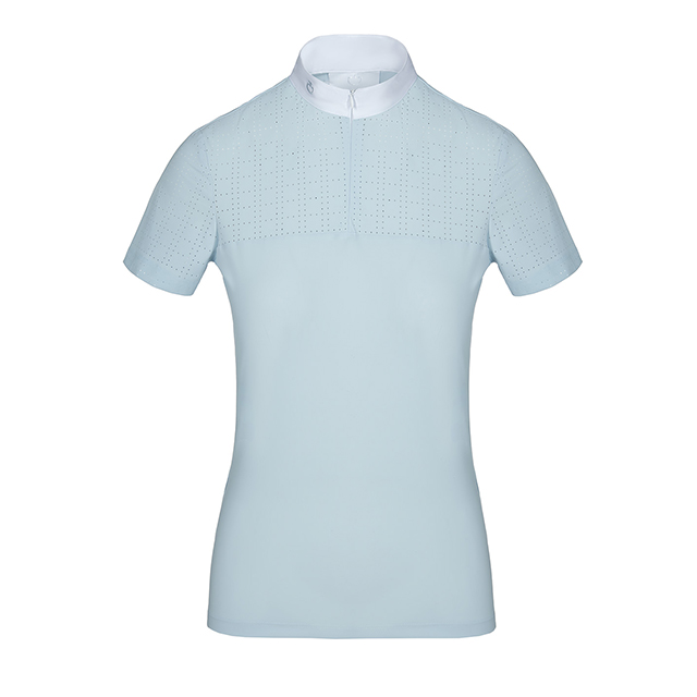 CT 女士比赛/训练短袖 Square Perforated Zip S/S Competition Polo