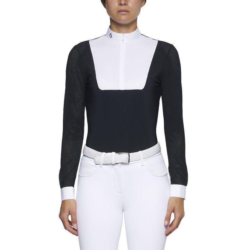 CT女士骑马比赛训练专业上衣速干防晒 Perforated Mix L/S Jersey Zip