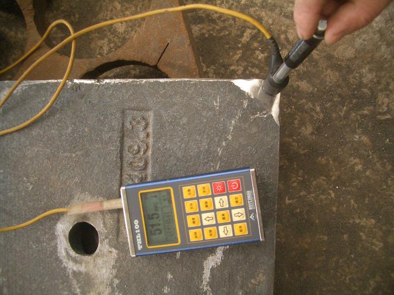 武乡电厂衬板硬度检测