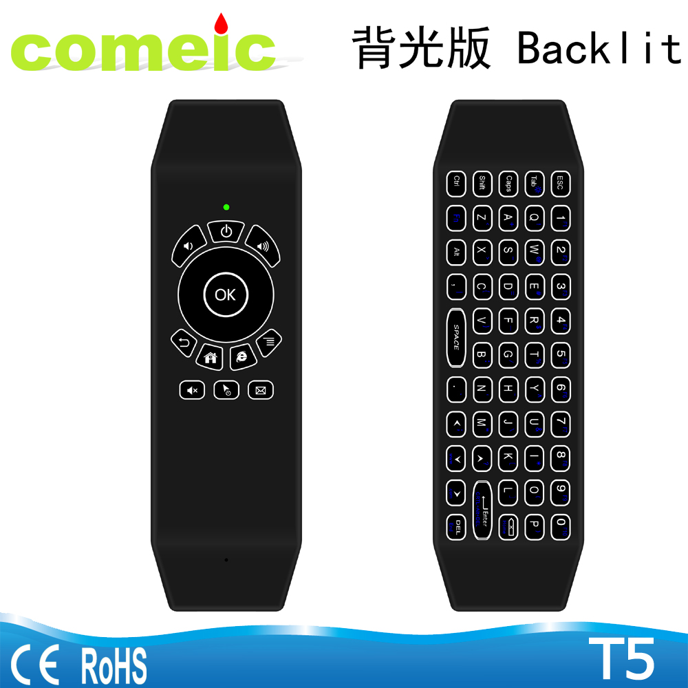 T5 Backlit Air Mouse remote