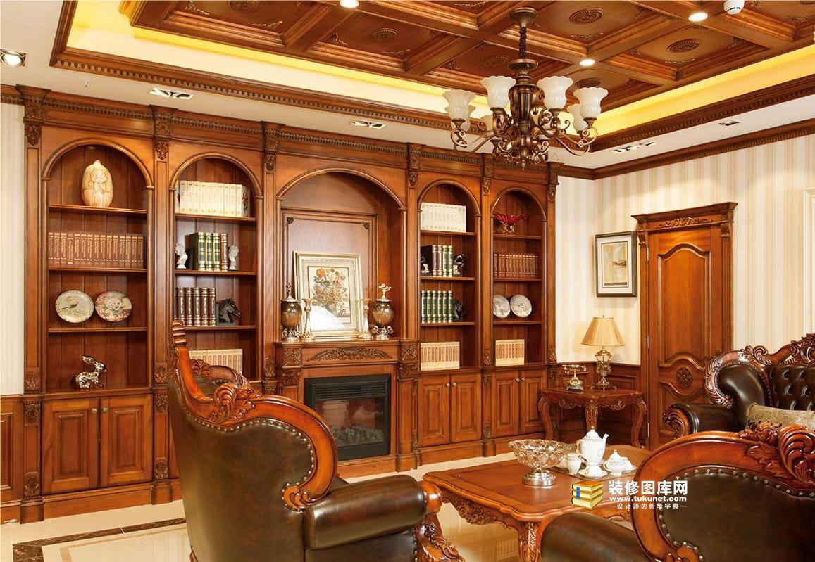 客厅整木装修效果图