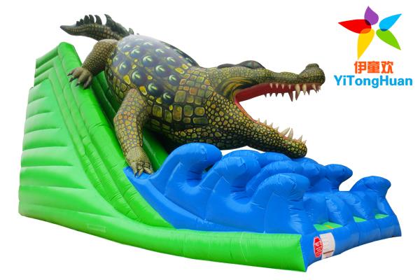 充气鳄鱼滑梯