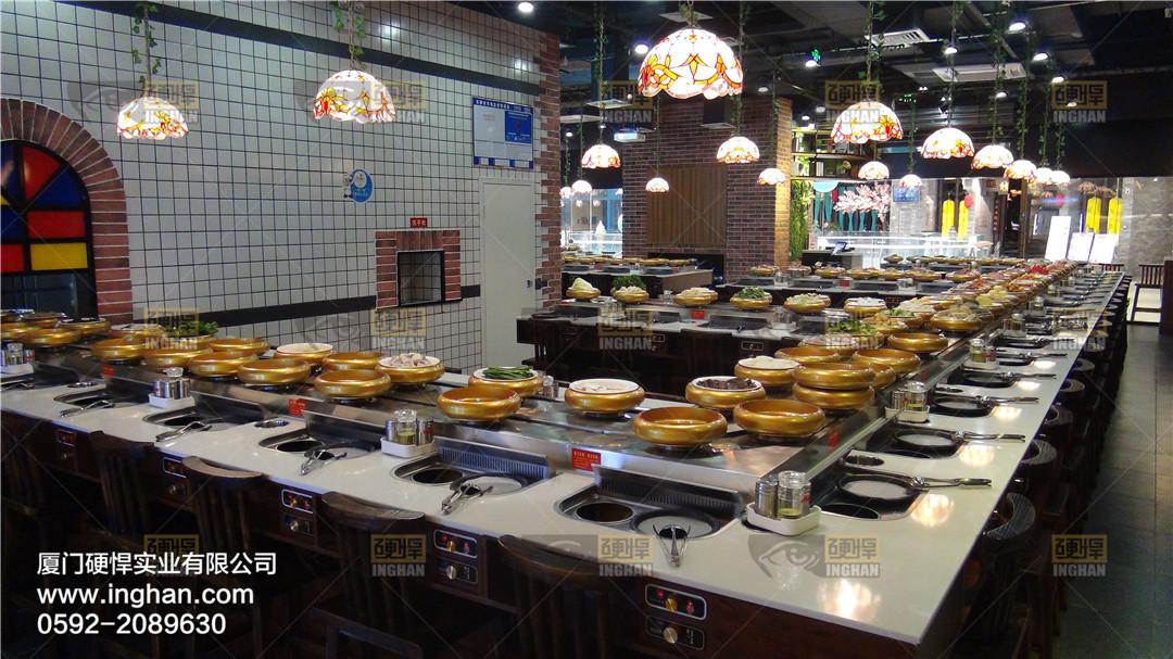 四季回转烤涮一体餐厅案例