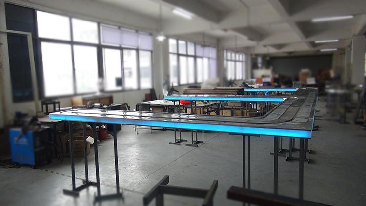 旋转小火锅设备传送带工厂实拍