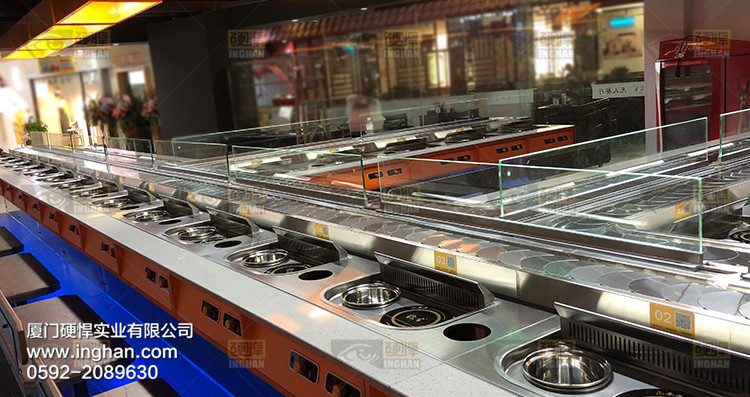 机台隔断在回转小火锅烤肉餐厅的应用