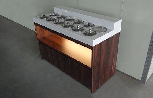 旋转小火锅设备餐厅的调料台,各式调料台均可定制,产品远销国内外