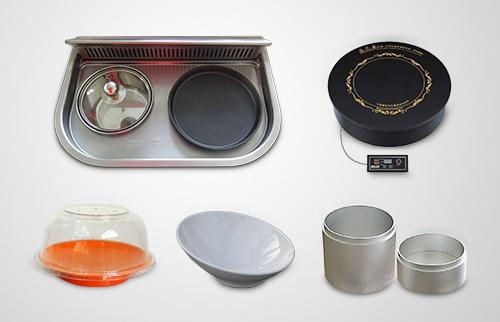 旋转小火锅设备餐厅餐具,电磁炉,寿司碟,斜口碗