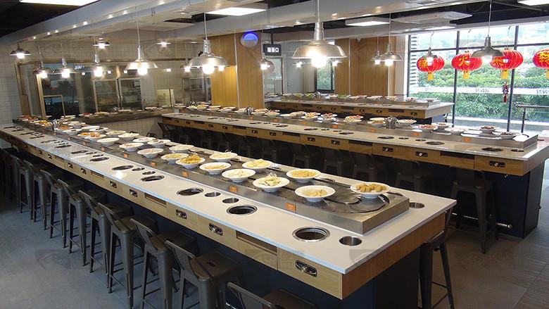 旋转小火锅餐厅图片