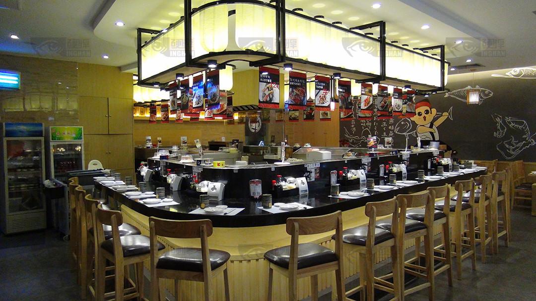 回转寿司餐厅设备餐厅实拍