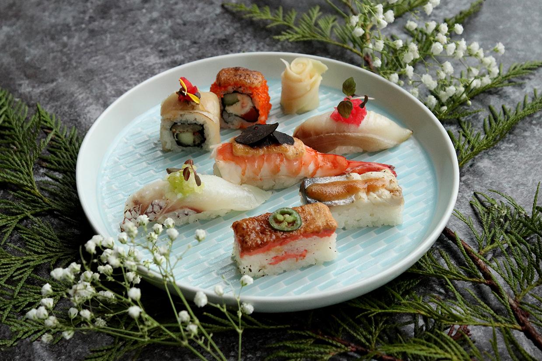 精致寿司菜品拍摄图片