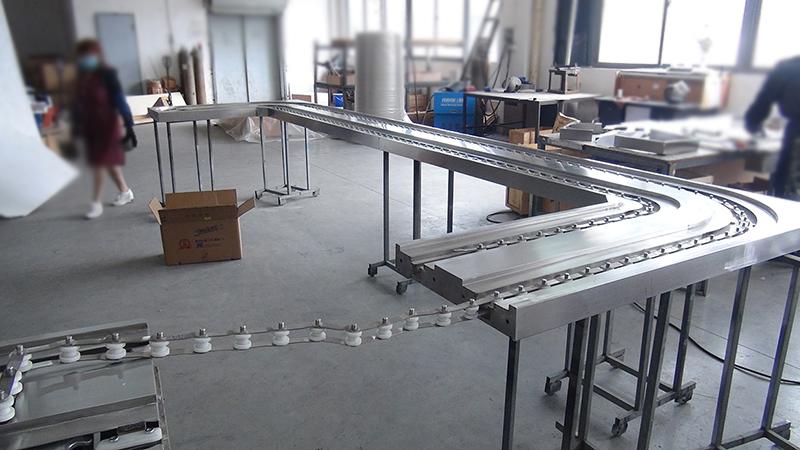 旋转小火锅设备标准机台与机头对接图
