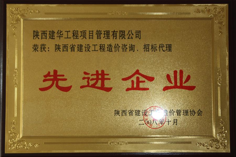 项目公司造价咨询招标代理先进企业2008