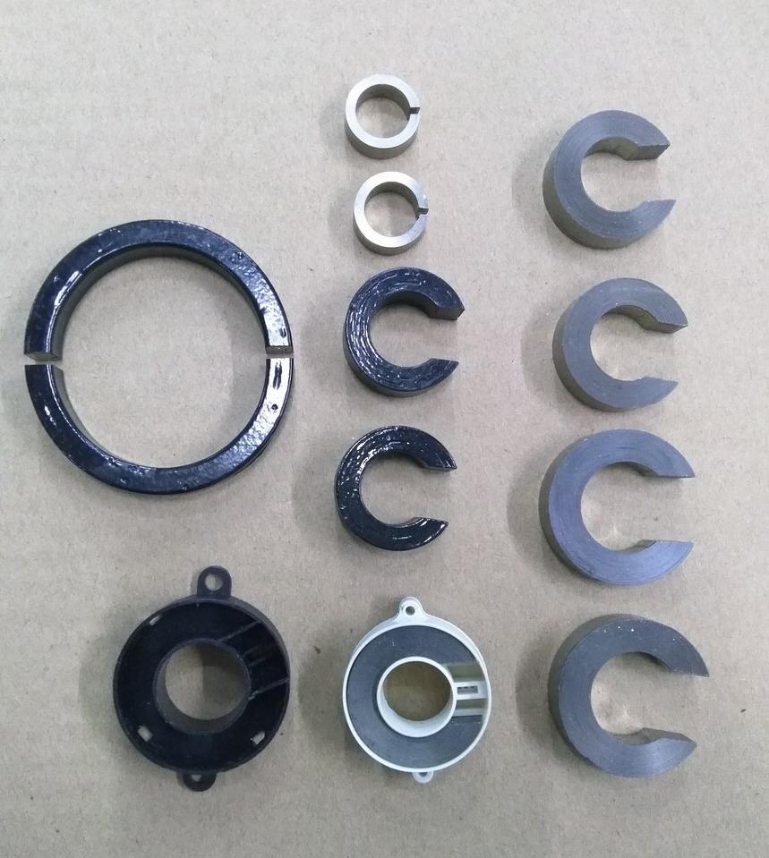 喷涂切割开口气隙铁基纳米晶磁环1k107铁芯