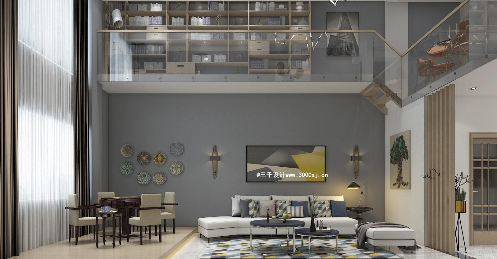 鄱阳装修设计-复式楼北欧风格