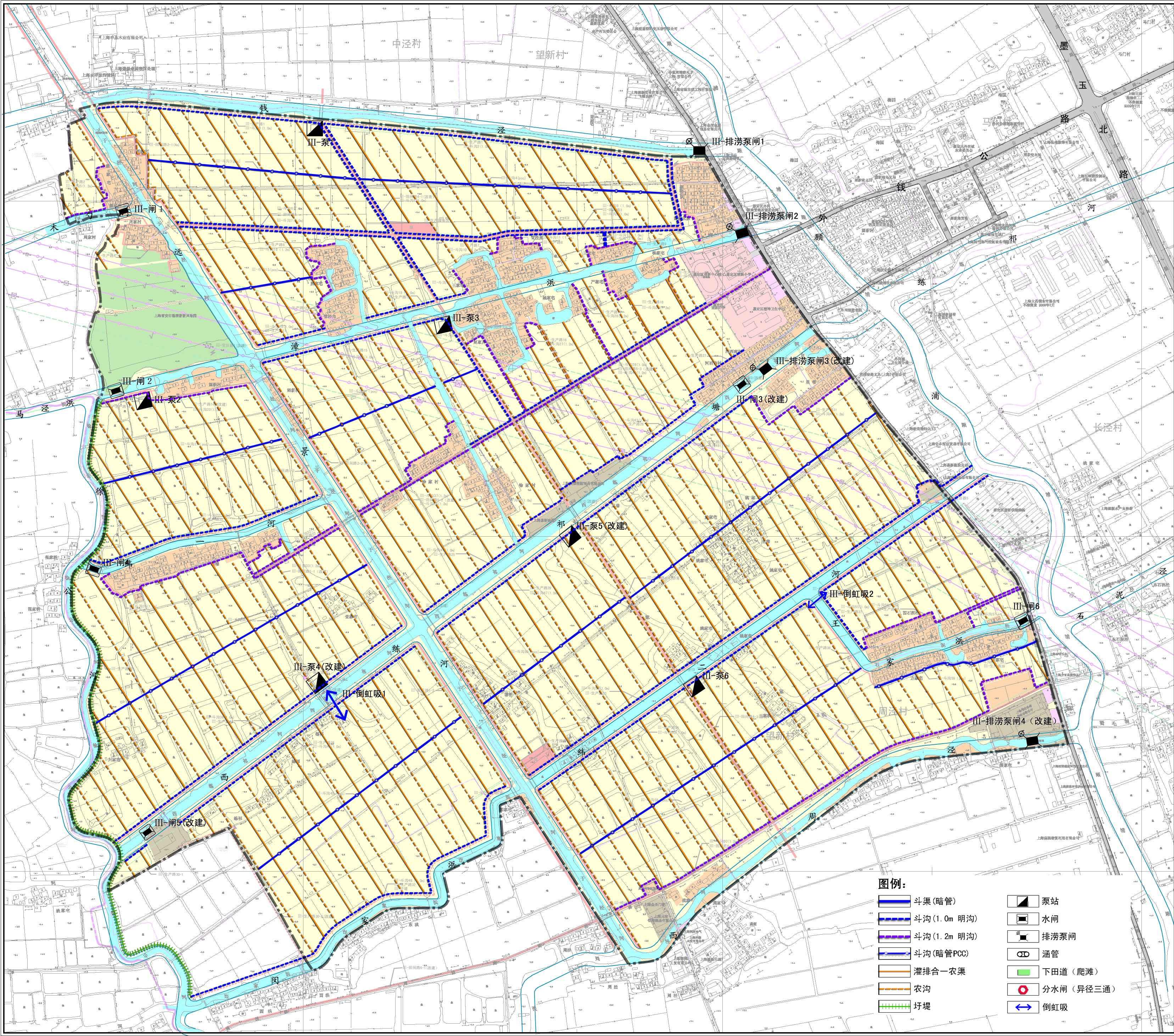 片区灌排系统规划图