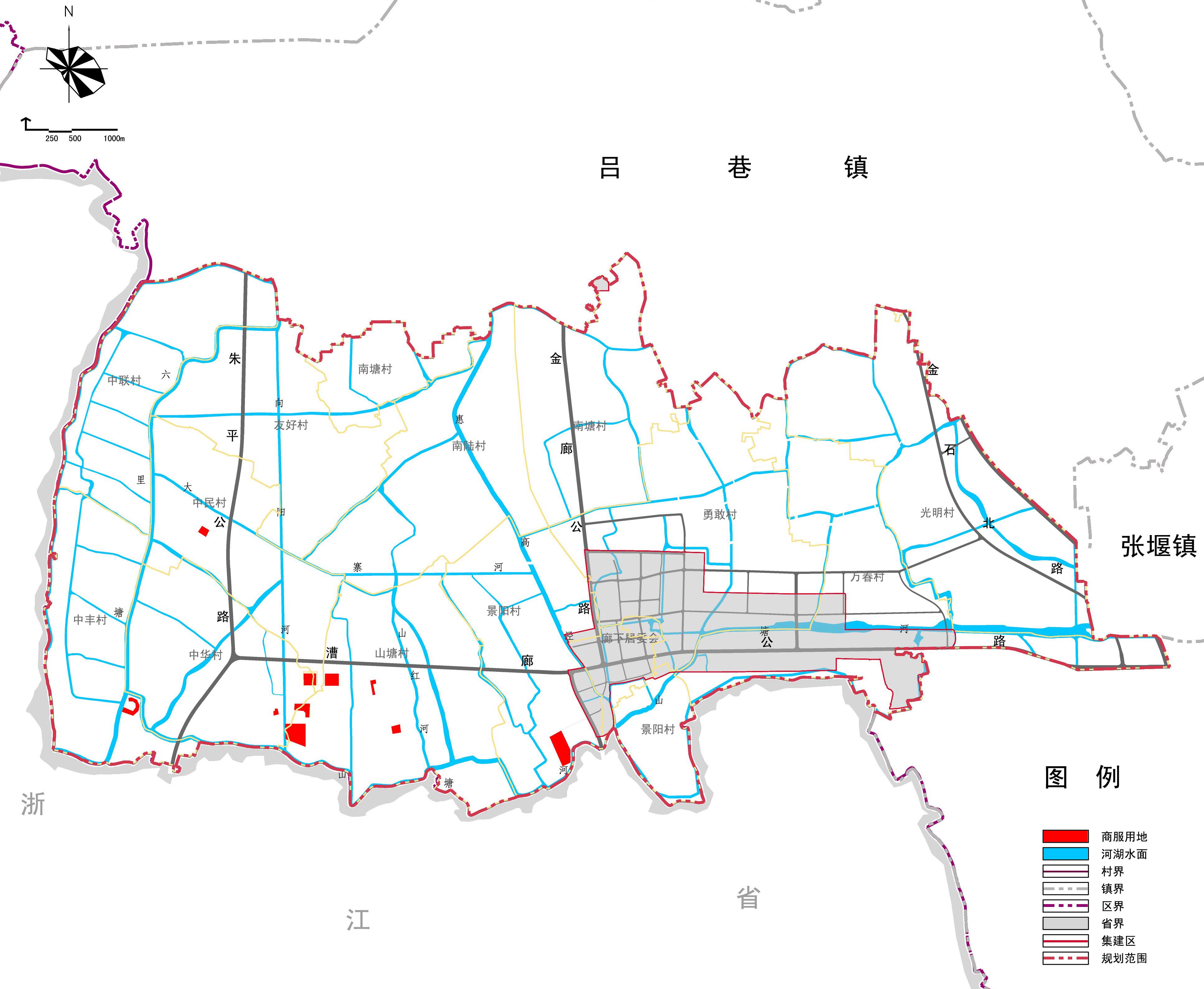 类集建区规划图(近期)