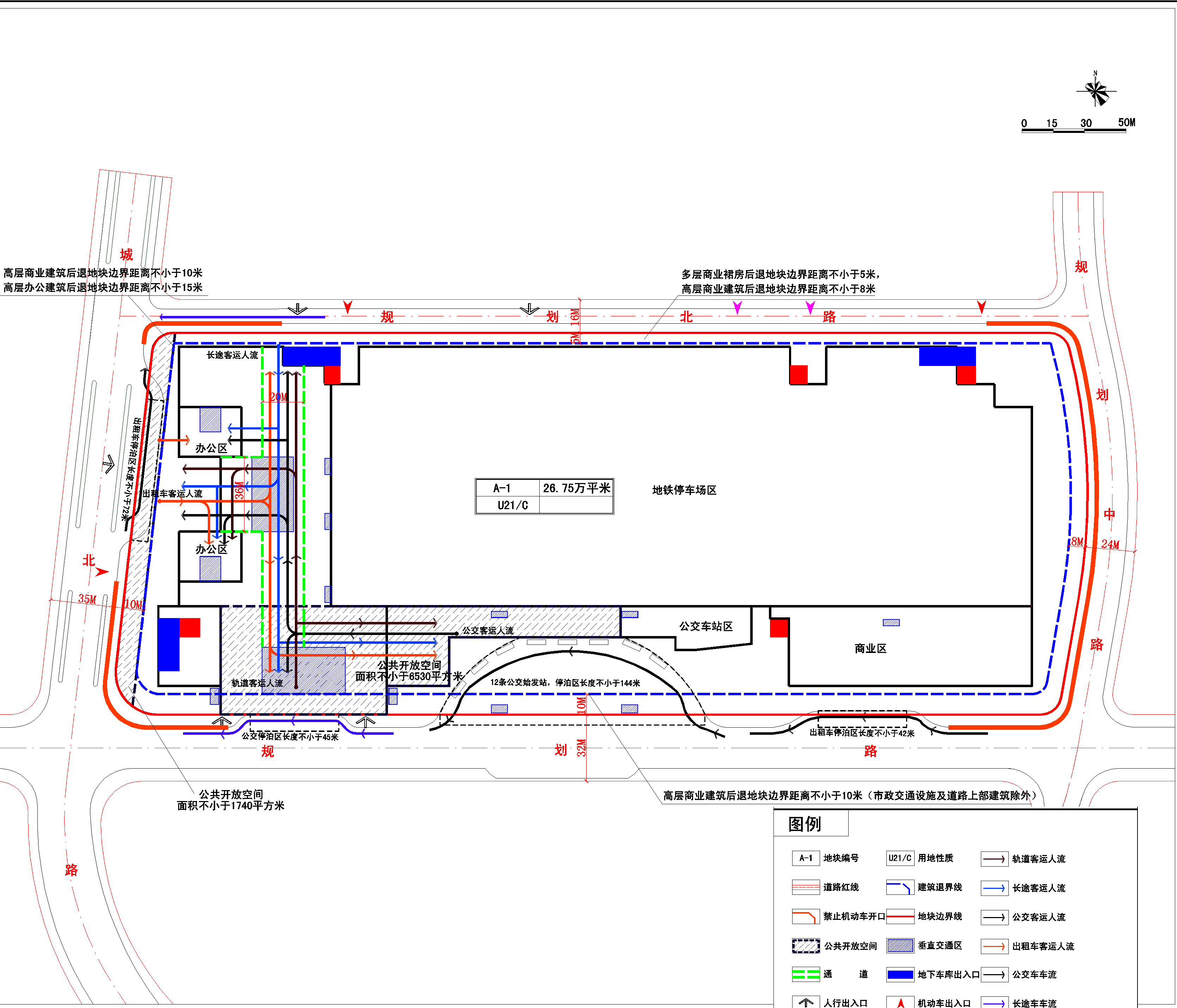 A地块地上一层开发控制图则副本