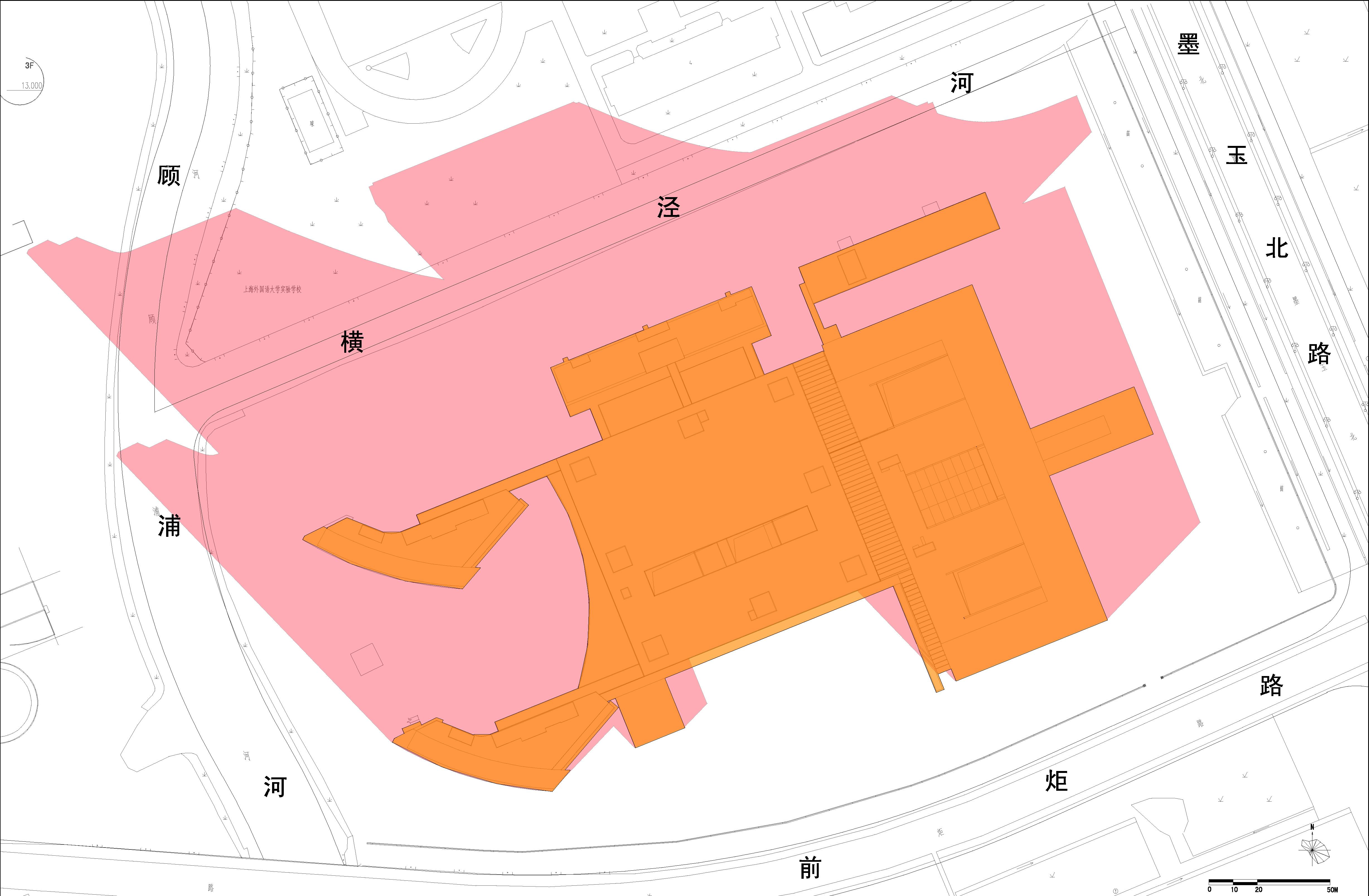 第二军医大学第三附属医院安亭院区工程日照分析客体建筑范围图