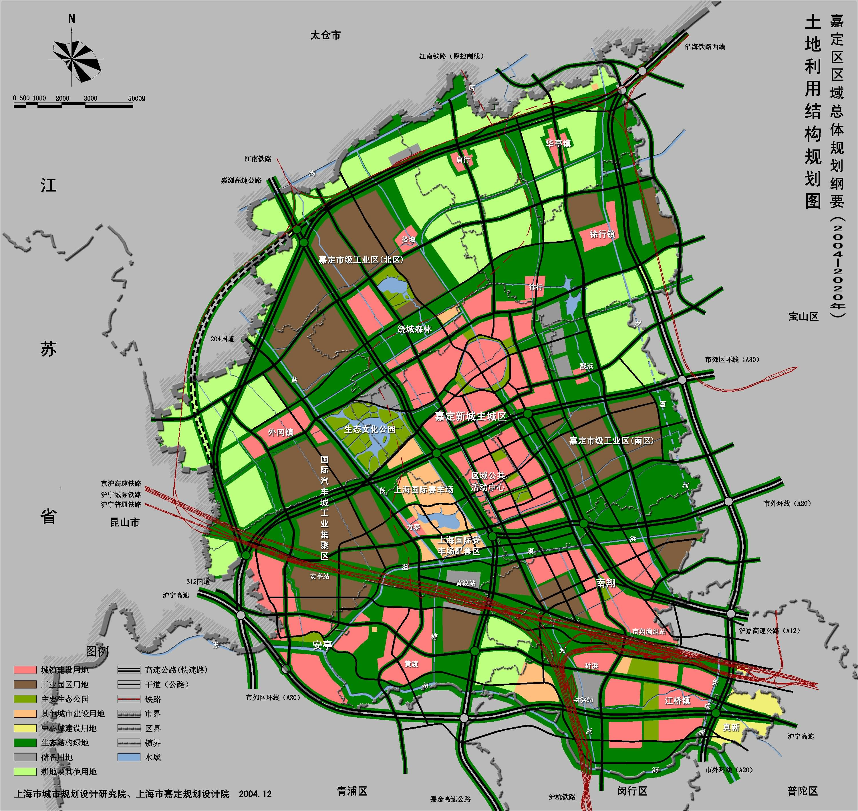 土地利用结构规划图