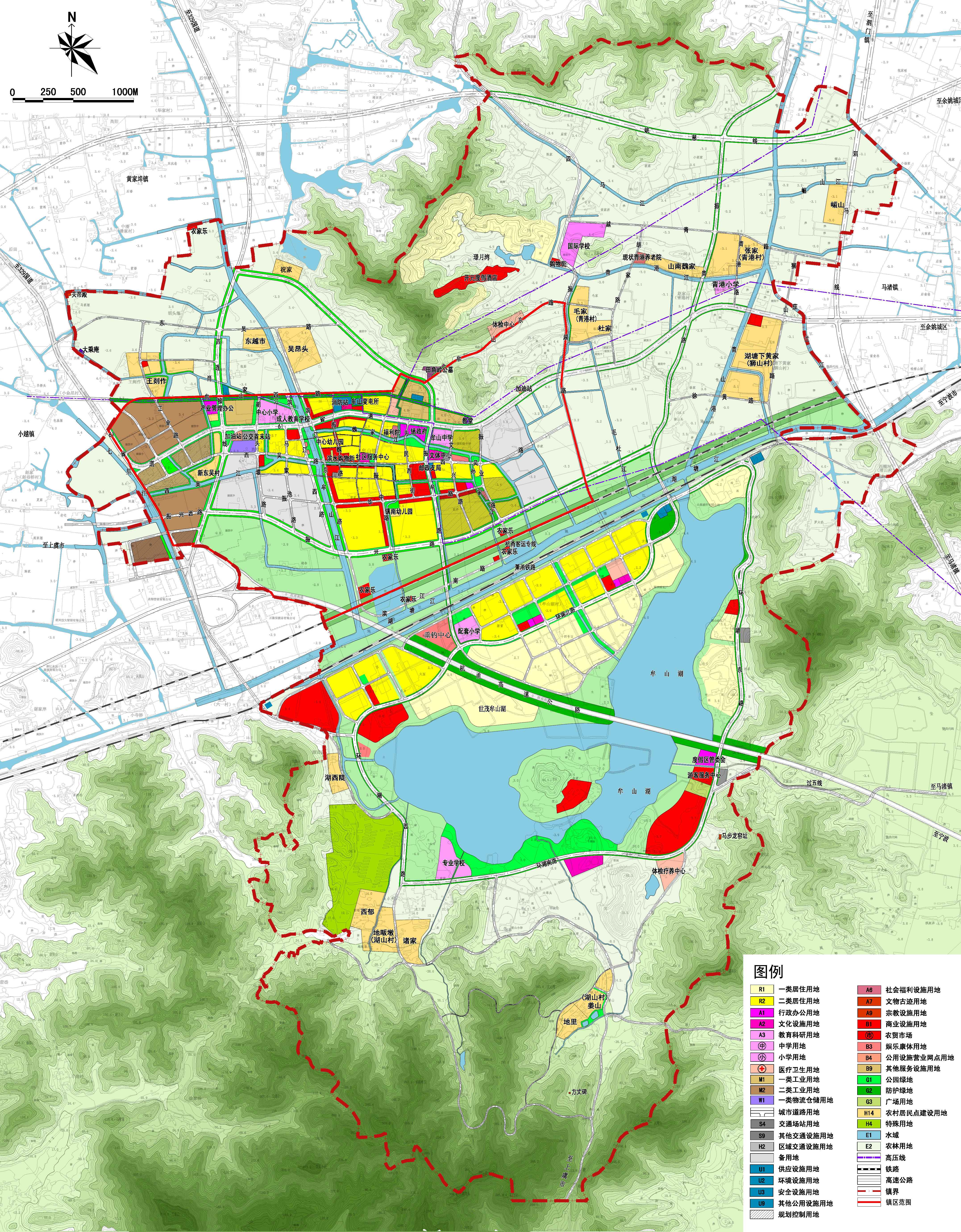 土地使用规划图