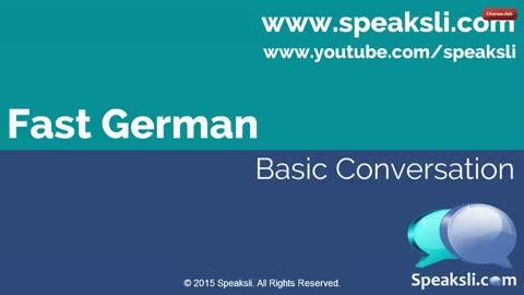 Basic German Conversation  Learn German  Speaksli