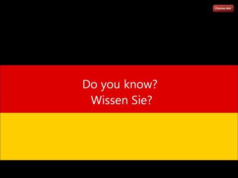 Learn German. 100 Basic German Phrases