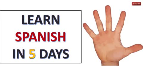 Learn Spanish in 5 days - Day 1