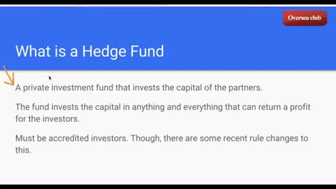 What are Hedge Funds