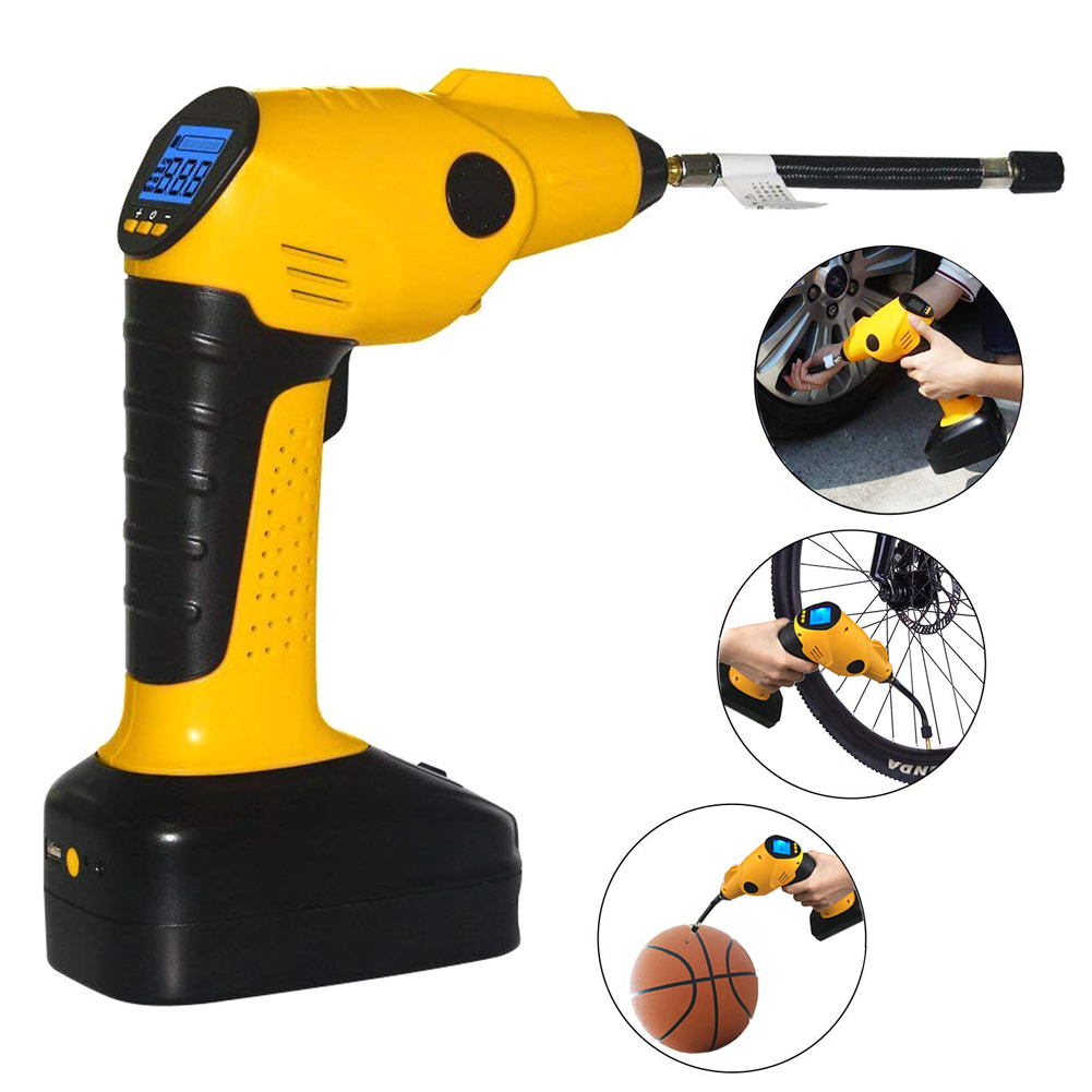 Picture of  Portable Air Compressor Pump Cordless Tire Inflator with Digital Display and LED Lights,Built-in Power Bank Perfect for Car Bicycle Air Mattresses Airboat Airbed Basketballs