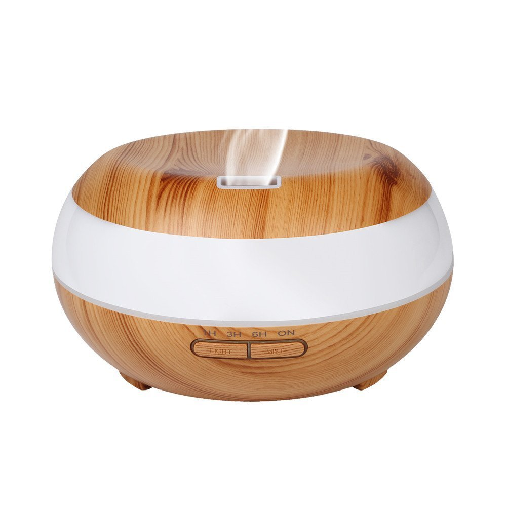 Picture of CARYWON Aromatherapy Essential Oil Diffuser 400ml Wood Grain Ultrasonic Cool Mist Humidifier with Low Water Auto Shut-Off