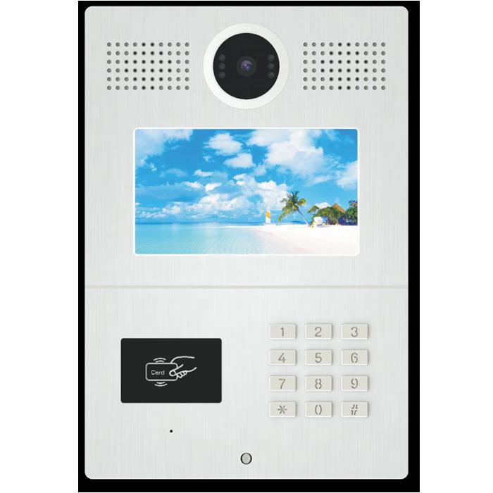 D1MKJT03 7寸液晶显示屏触摸按键数字门口机