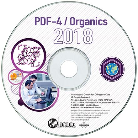 PDF-4 2019有机物卡片数据库