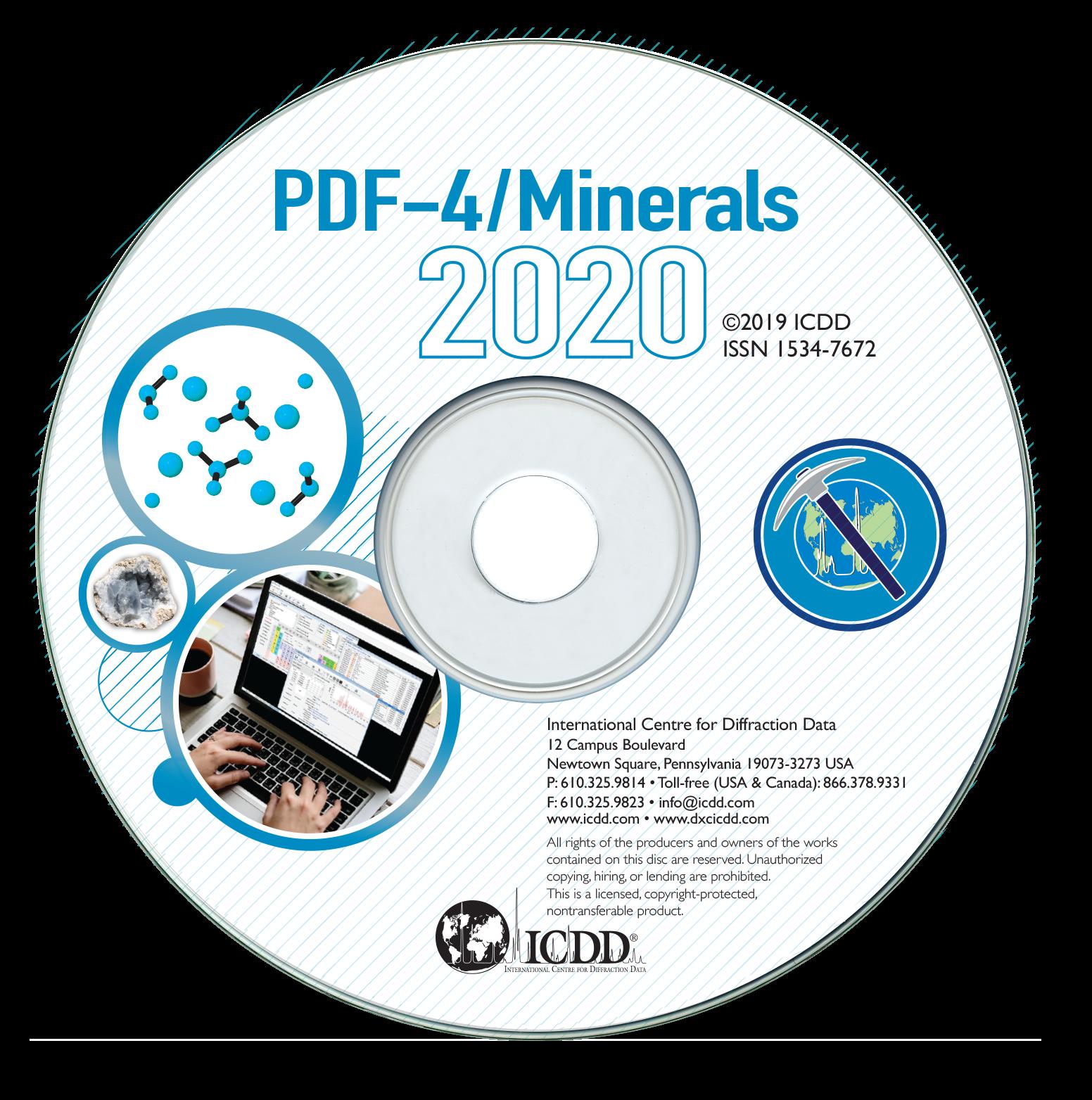 PDF-4+2020矿物版衍射数据库卡片