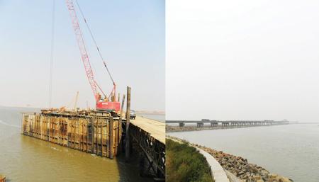 洋河口跨海大桥