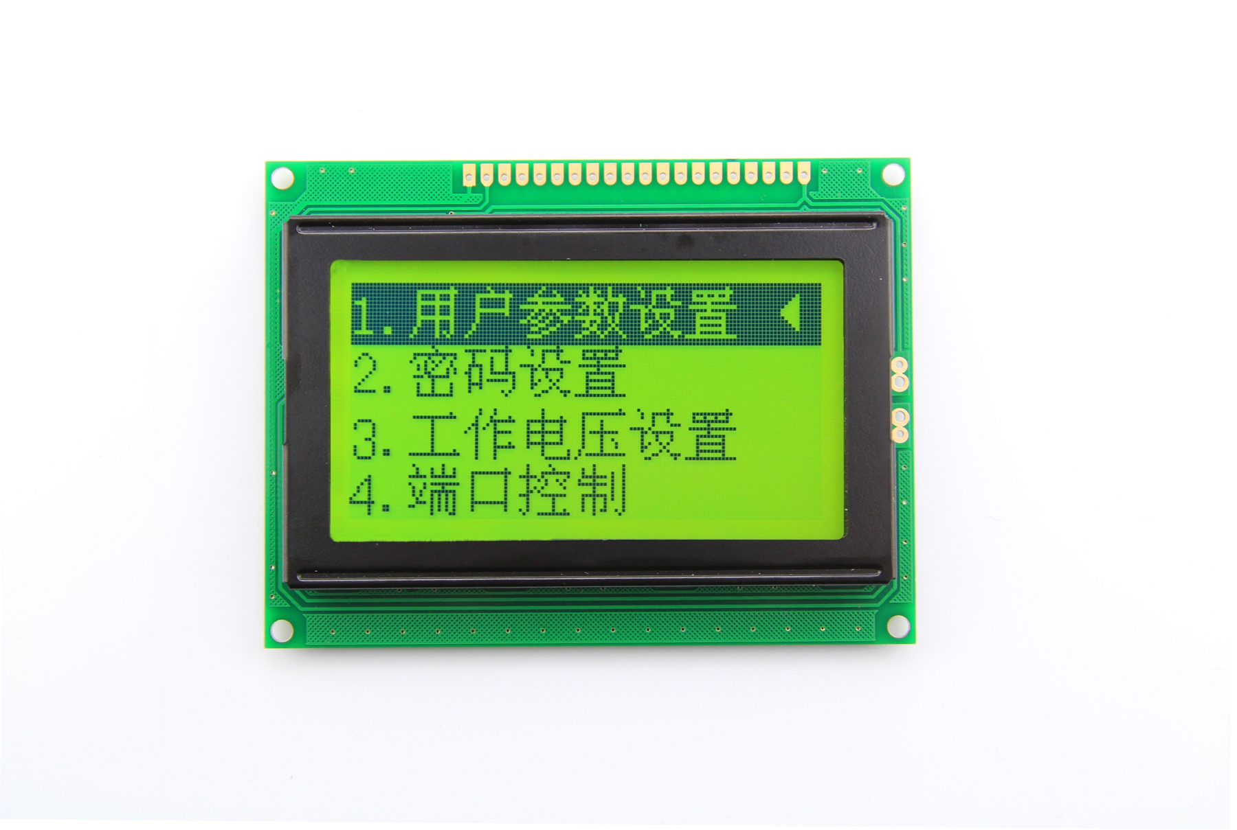 HTM12864B3--最典型的显示四行八个汉字的图形点阵模组