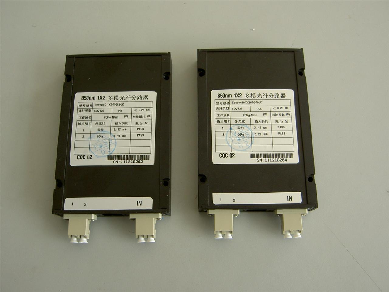 法兰式850nm1X2多模光纤分路器
