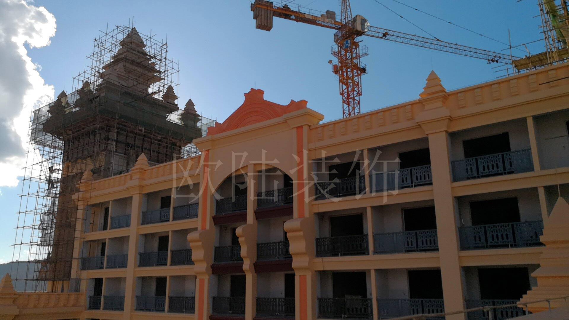 老挝磨丁经济特区GRC构件制作安装工程