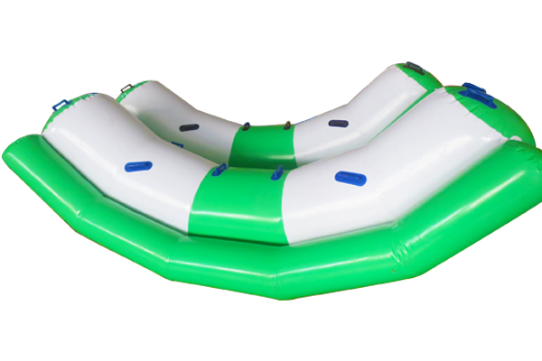 On water inflatable seesaw