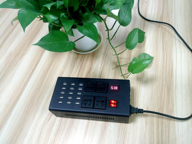 15口智能USB排插