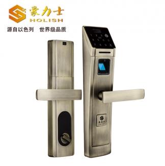 豪力士D5688F-青古铜指纹密码锁